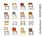 office chair set in flat style | Shutterstock .eps vector #503293801