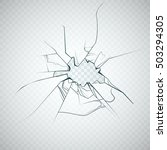broken glass. vector | Shutterstock .eps vector #503294305