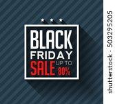black friday. big sale 80 .... | Shutterstock .eps vector #503295205