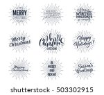set of christmas   new year... | Shutterstock .eps vector #503302915