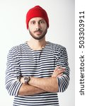 portrait of bearded guy in... | Shutterstock . vector #503303911