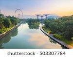 Panorama Of Singapore Gardens...
