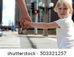 father holding  the daughter ... | Shutterstock . vector #503321257