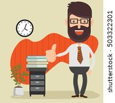 businessman employee concept... | Shutterstock .eps vector #503322301