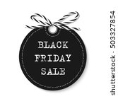 black friday sale label with... | Shutterstock .eps vector #503327854