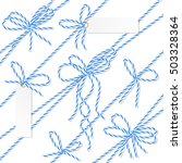 set of blue rope bakers twine... | Shutterstock .eps vector #503328364