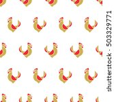 seamless pattern with roosters. ...   Shutterstock .eps vector #503329771
