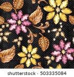 seamless pattern of decorative... | Shutterstock .eps vector #503335084