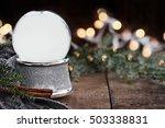 rustic image of an empty... | Shutterstock . vector #503338831