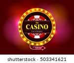 casino sign on colorful light... | Shutterstock .eps vector #503341621