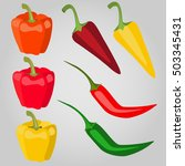 bright colorful pepper | Shutterstock .eps vector #503345431