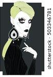 beautiful fashionable vampire.... | Shutterstock .eps vector #503346781