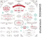 ornate christmas frames and... | Shutterstock .eps vector #503348455