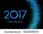 vector 2017 happy new year... | Shutterstock .eps vector #503349055