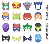 superhero mask set icons in... | Shutterstock .eps vector #503352367
