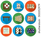 board games set icons in flat... | Shutterstock .eps vector #503352979