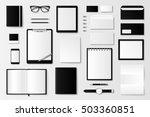 mock up vector set. | Shutterstock .eps vector #503360851
