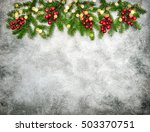 christmas decoration with red... | Shutterstock . vector #503370751