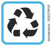 recycle blue and gray glyph... | Shutterstock . vector #503370919