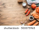 ingredients for tomato soup   Shutterstock . vector #503375965