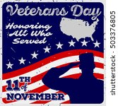 veteran's day poster template... | Shutterstock .eps vector #503376805