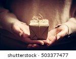 giving a gift  handmade present ... | Shutterstock . vector #503377477