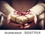 giving a gift  handmade present ... | Shutterstock . vector #503377519