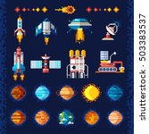 space icons composition in... | Shutterstock .eps vector #503383537