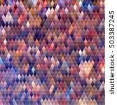 abstract colorful triangles ... | Shutterstock .eps vector #503387245
