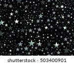 stars seamless pattern. magic... | Shutterstock .eps vector #503400901