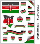 kenya flag set   vector... | Shutterstock .eps vector #503401069