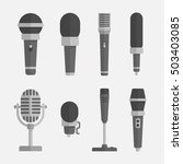Microphones Vector Set In A...