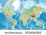 world physical vector map... | Shutterstock .eps vector #503406085