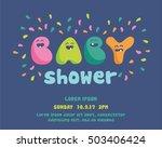 cute baby shower invitation | Shutterstock .eps vector #503406424