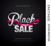 black friday sale banner.... | Shutterstock .eps vector #503411965