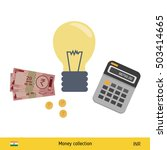 idea makes money . indian rupee ... | Shutterstock .eps vector #503414665