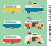 retro car travel  camping ... | Shutterstock .eps vector #503415199