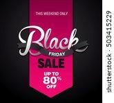 black friday sale banner.... | Shutterstock .eps vector #503415229