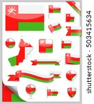 oman flag set   vector... | Shutterstock .eps vector #503415634