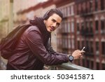 young man with a urban look in... | Shutterstock . vector #503415871