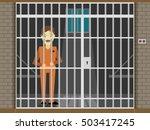 prisoner  flat vector...