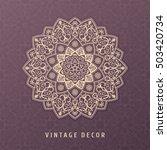 ethnic vector mandala design...   Shutterstock .eps vector #503420734