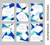 set of universal cards and... | Shutterstock .eps vector #503421661