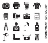 camera and accessory icon set... | Shutterstock .eps vector #503422309
