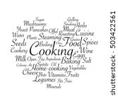 cooking related words. tag... | Shutterstock .eps vector #503422561