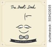 the best dad card fro happy... | Shutterstock .eps vector #503423035