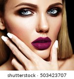 sensual glamour portrait of... | Shutterstock . vector #503423707