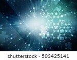 2d illustration abstract... | Shutterstock . vector #503425141
