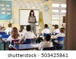 view from doorway of teacher... | Shutterstock . vector #503425861