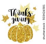 luxurious golden glitter card... | Shutterstock .eps vector #503426581